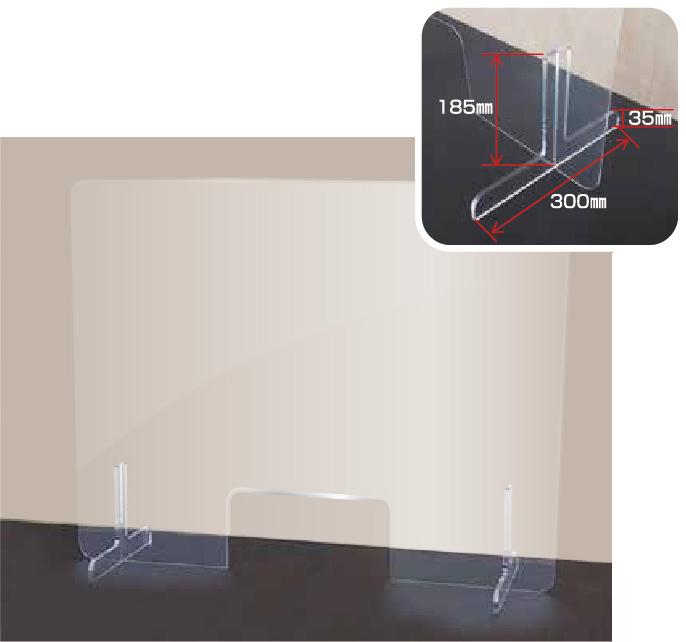 T型透明アクリルスタンド(薄型)